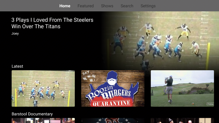 That's it! You have successfully installed the Barstool Sports app on your Firestick/Fire TV device.