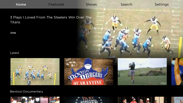 That's it! You have successfully installed the Barstool Sports app on your Roku device.