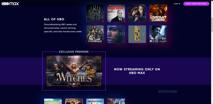 One competitive advantage that HBO Max has is its exclusive titles that other services can't provide.