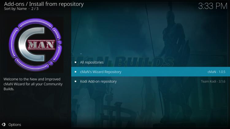 Click cMaN's Wizard Repository