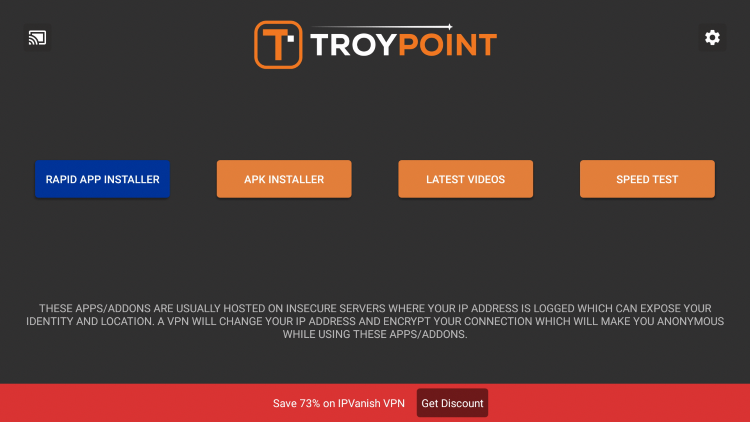 Once you have the Rapid App Installer on your device, launch the TROYPOINT App.