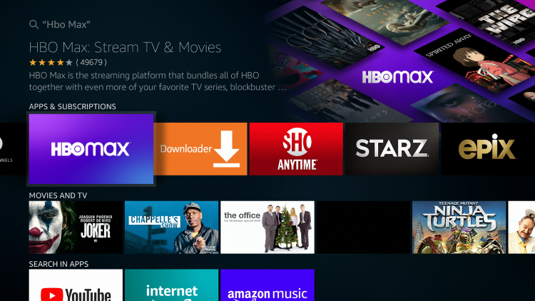 Select HBO Maxunder Apps & Games