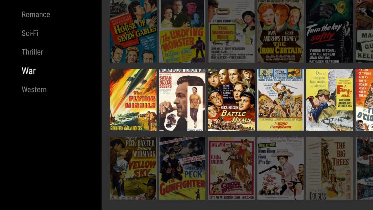 old movies app genres