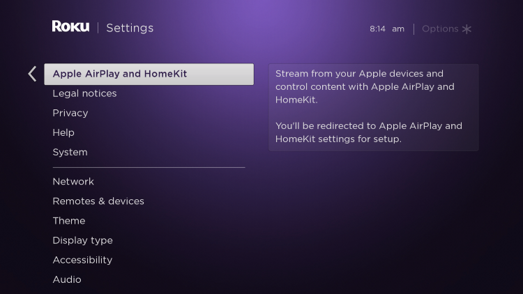 click airplay and homekit