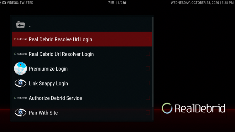 Choose Resolve URL Login
