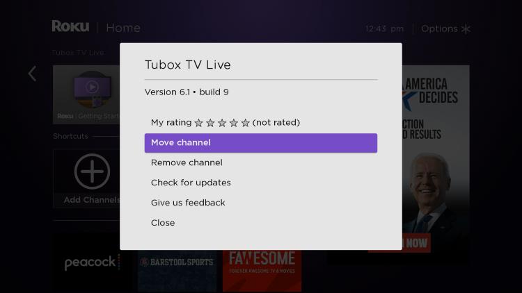 Choose Move channel
