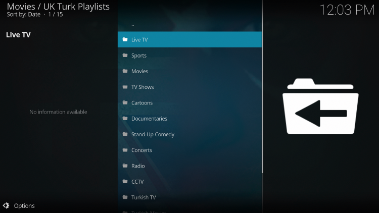 You can find similar categories within the UK Turks Kodi Addon.