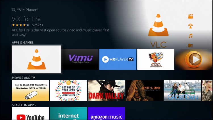 choose vlc for fire tv