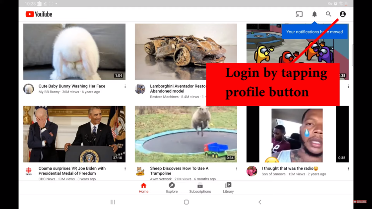 Launch YouTube Vanced APK and sign in to your YouTube account if you wish