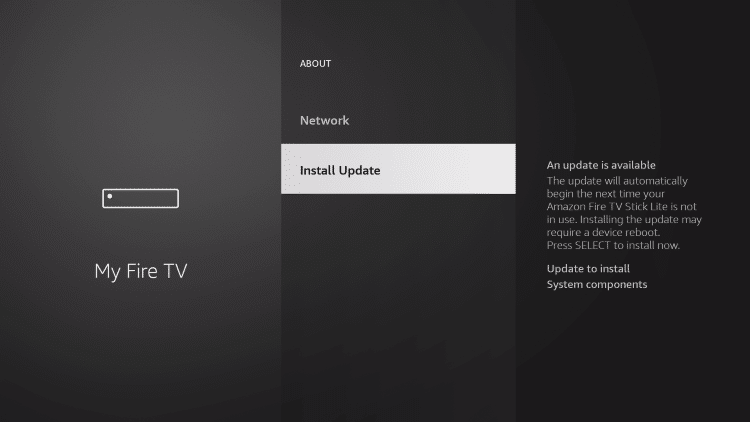 choose install update