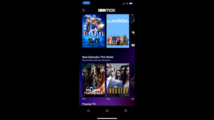 cast hbo max app to streaming device