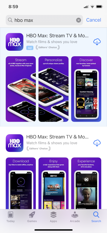 download hbo max