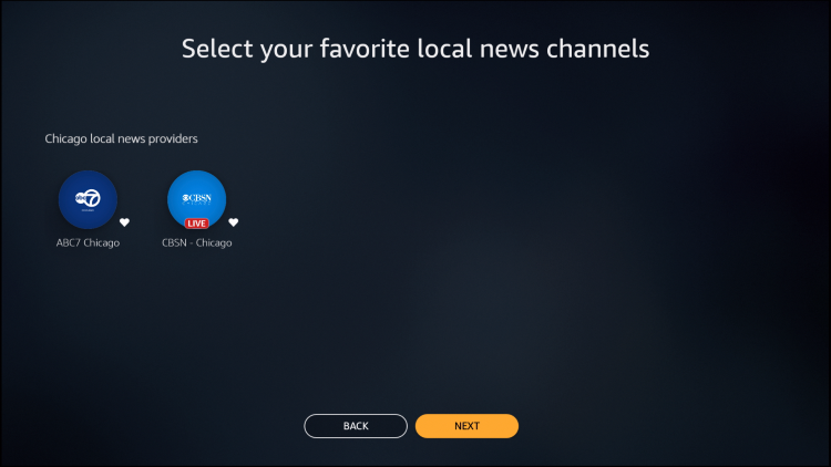 select your channel choices