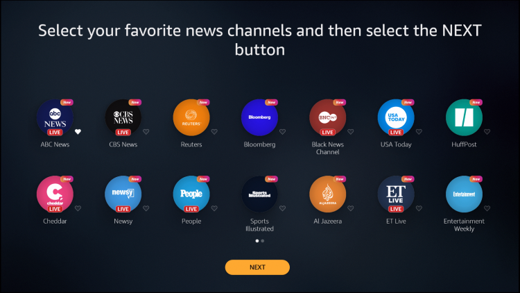 add national news channels