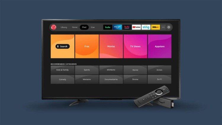 new fire tv interface menu categories