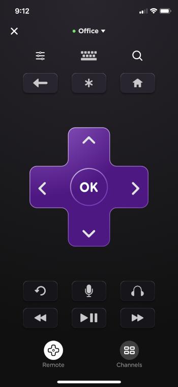 click the remote button