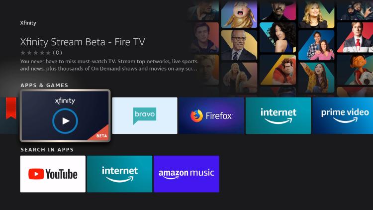 choose xfinity stream