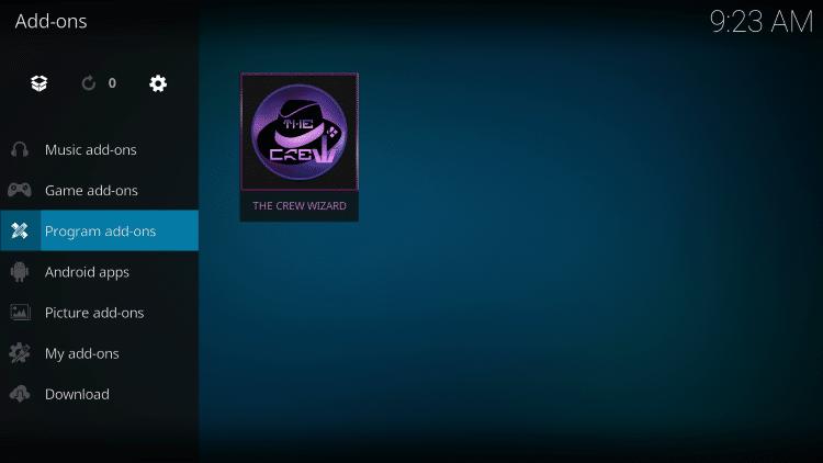 Click Program add-ons.