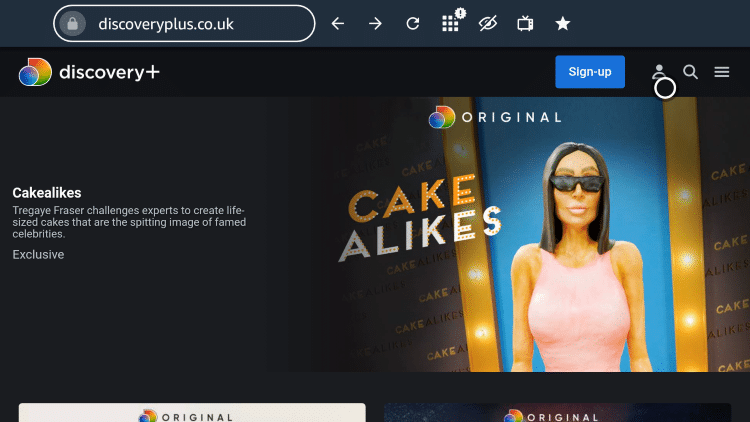 Click the user profile icon.