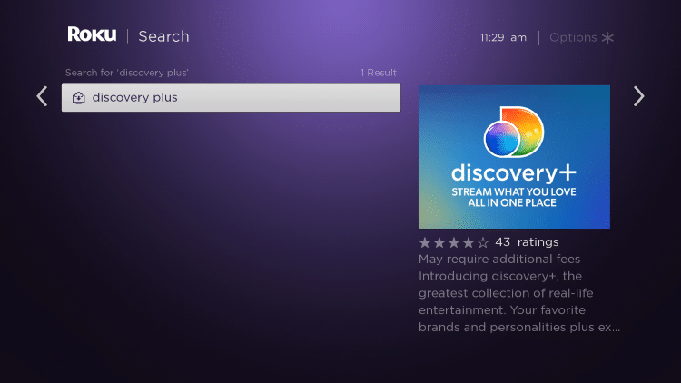 select discovery plus app