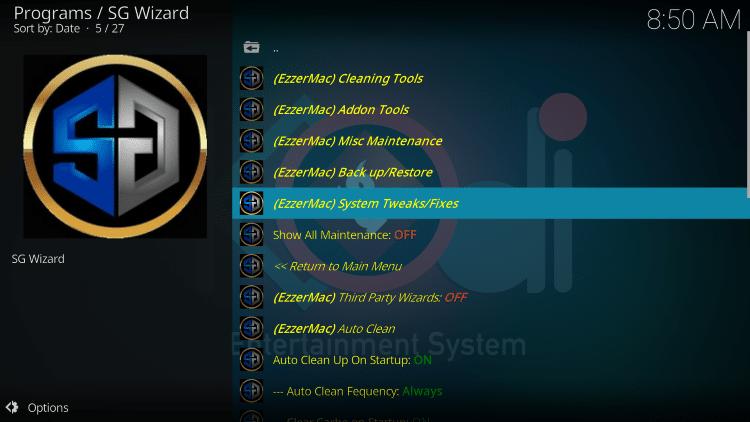 click system tweaks/fixes