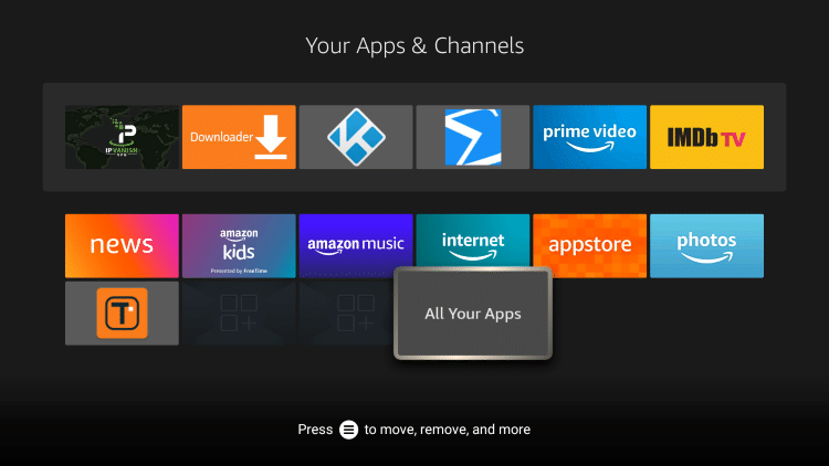 That's it! You understand how to apps on your Firestick using the home button method.