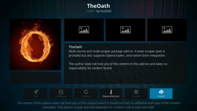 the oath kodi addon