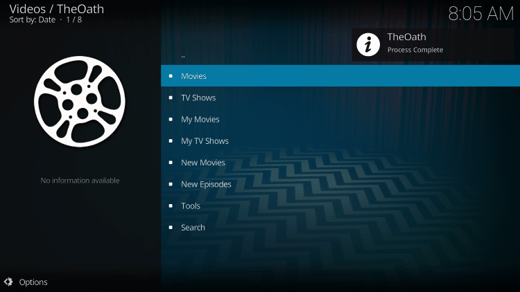 That's it! You have successfully installed The Oath Kodi Addon