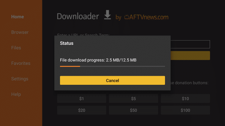 wait for the app to install