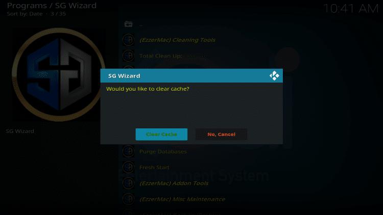 click clear cache again