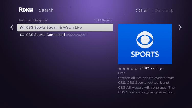 click CBS Sports