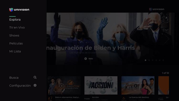 univision app launch