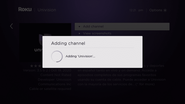 wait for channel to install