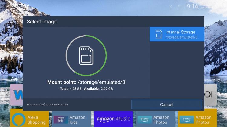 Click Internal Storage.