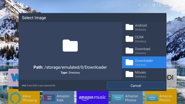 Locate and select the Downloader folder.