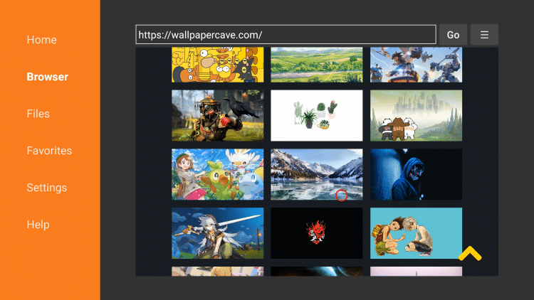 Once on the website scroll down and choose any background image you prefer.