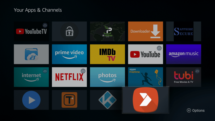 Locate and select Aptoide TV from your Apps & Channels list.