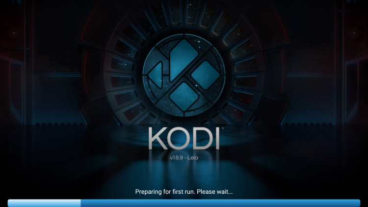 Wait a few seconds for Kodi to load.