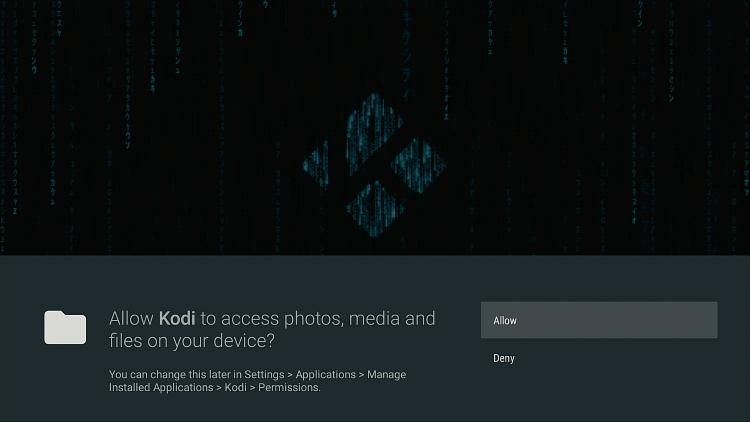 Kodi Allow Sources
