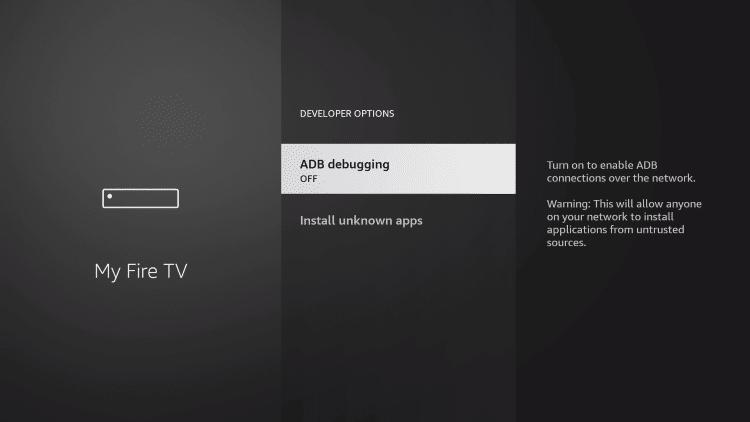 click adb debugging
