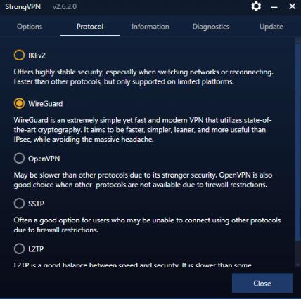 Select Protocol in the upper menu.
