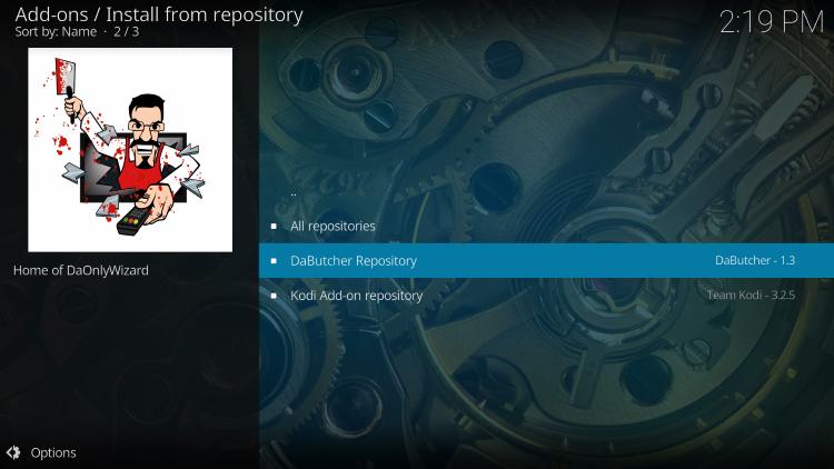 Choose DaButcher Repository