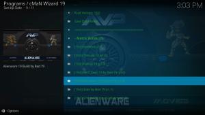 alienware kodi build matrix