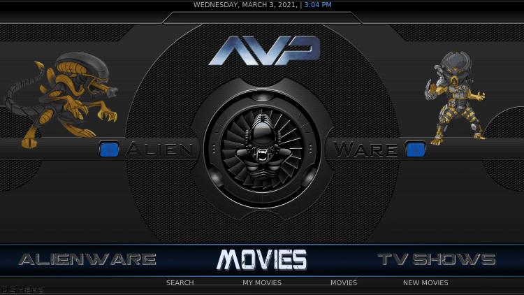 alienware kodi build movies