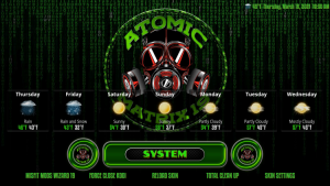 atomic matrix kodi build system