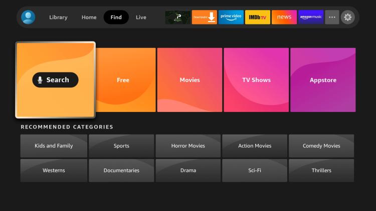 Follow the screenshots below to install DistroTV on a Firestick/Fire TV.