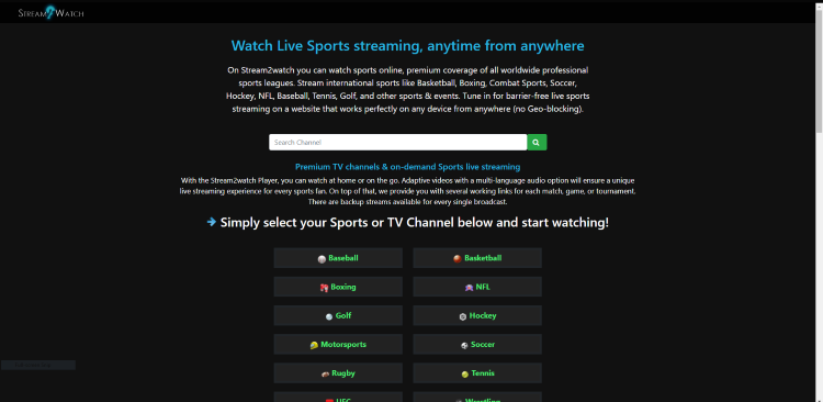 stream2watch best free sports streaming sites