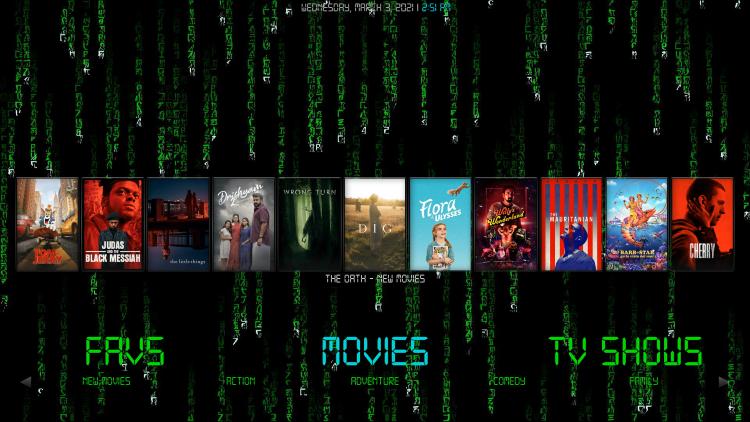 matrix kodi build movies