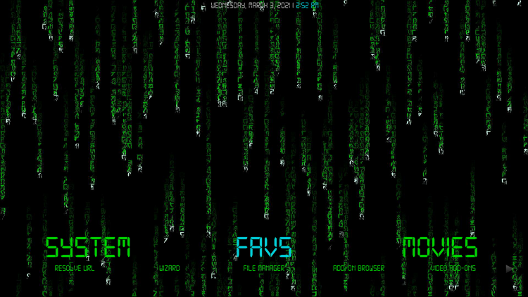 matrix kodi build favs