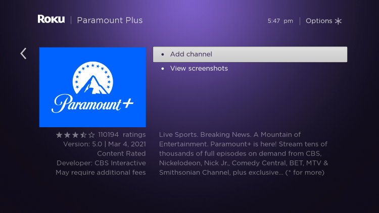 Select Add channel.